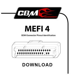 cbm motorsports mefi 4 electronic control modual technical informationcbm mefi 4 connector id