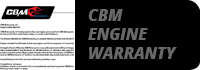 cbm motorsports warrenty
